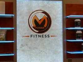 M-Power Fitness Illuminated Shelves and Alibaster over LumaPex (front)