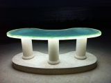 Glass Table with Surface Illumination and Downlight - Bruce Saba - Lumapex under glass
