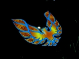 Firebird on Hood of Trans Am<br />James Hunter - St Petersburg, FL<br />Vinyl over Electroluminescent Panel