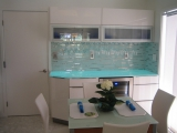 Puerto - Hollywood, FL - Glass Counter over Electroluminescent Panel EL