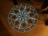 Stone Medallion with Illuminated Lines - Lazzara Yachts - Stone over Electroluminescent Panel EL