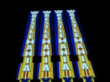 WrestleMania 24 Illuminated Ringposts - WWE - Vinyl over Electroluminescent Panel