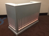 GOURMET FLEXI by R.A.P. - Cudahy, California - Portable Illuminated Bar for the Hospitality Industry - Custom Metal & Color Changing LumaPex