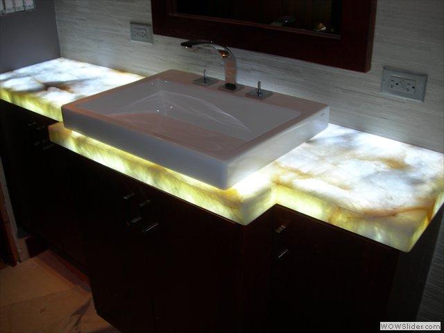 Stone Backlighting And Flat Lighting Onyx Corian 3form Glass